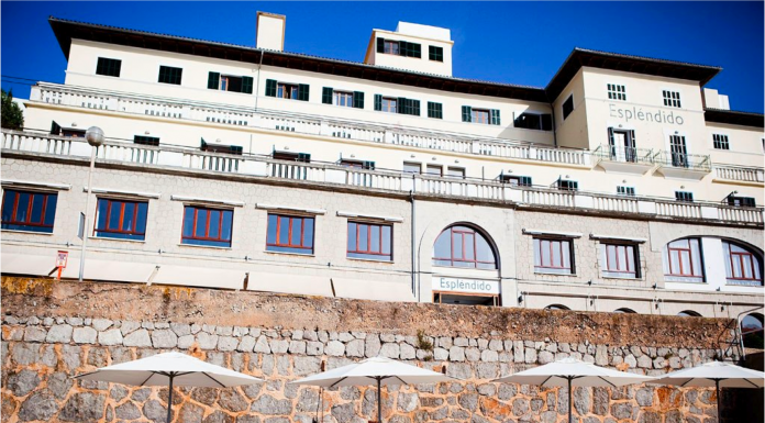 Esplendido hotell, restaurang, Port de Soller, Sollerbukten, utsikt