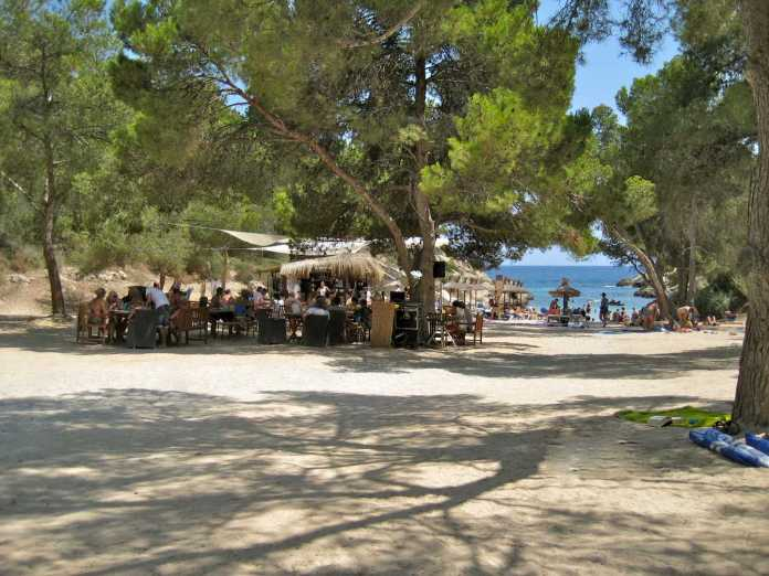 Cala Falco strand, Mallorca, strandbar, beach club