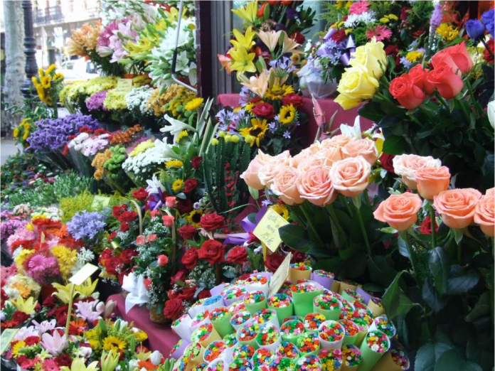 La Ramblas, Palma de Mallorca, marknader, matmarknader, mat, blommor