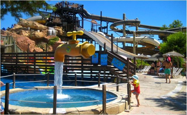 Vattenpark, waterpark, magaluf, nöjespark, Mallorca