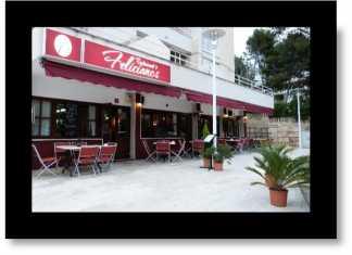 Restaurang i Peguera, Sydvästra Mallorca,