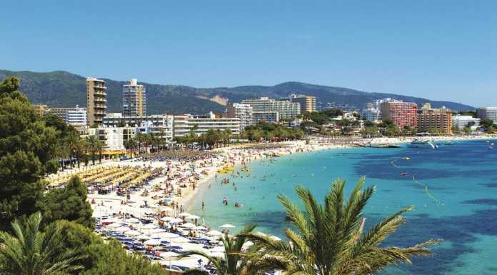 Magalug, strand, sydväst Mallorca