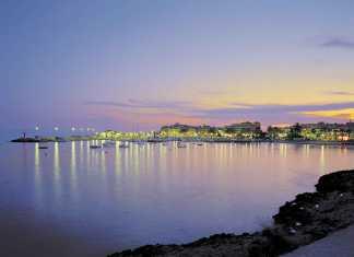 Gammal fiskeby, Cabrera nationalpark, saltutvinning nära Es Trenc, vackra stränder på Mallorcas sydöstkust.