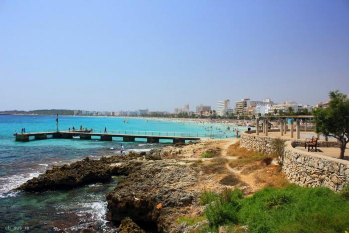 Playa de Palma, El Arenal, Sandstrand, Mallorca, Sydöstra Mallorca