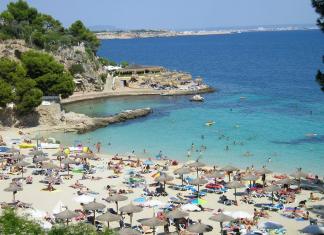 Illetas, Strand, Bad, Sandstrand, Stränder, Palmabukten, beachclub