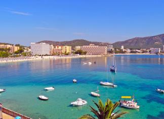 Palma Nova, Stränder, Sydvästra Mallorca, Turistort, Bad, Strand, Stränder