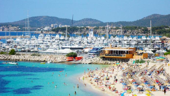 Portal Nous, strand, Sydvästra Mallorca, Turistort