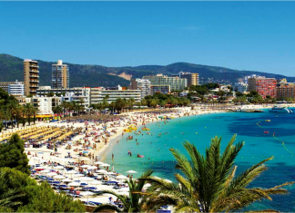 Magaluf, barer, beachclubben, grannarna grus, e4an, La Bodega, BCM, Wavehouse, Palma Nova, klubbar, uteställen, Sydvästra Mallorca, Mallorca