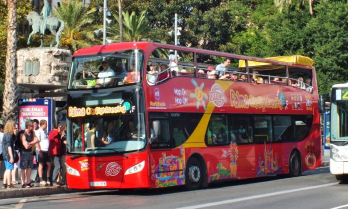 Sightseeingbuss, guidning, Palma de Mallorca